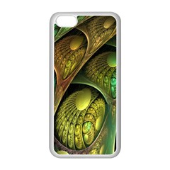 Psytrance Abstract Colored Pattern Feather Apple Iphone 5c Seamless Case (white)