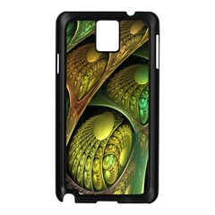 Psytrance Abstract Colored Pattern Feather Samsung Galaxy Note 3 N9005 Case (black)