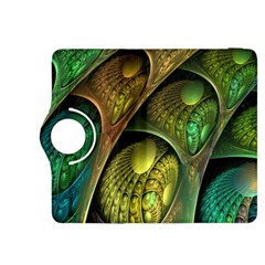 Psytrance Abstract Colored Pattern Feather Kindle Fire Hdx 8 9  Flip 360 Case