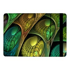 Psytrance Abstract Colored Pattern Feather Samsung Galaxy Tab Pro 10 1  Flip Case