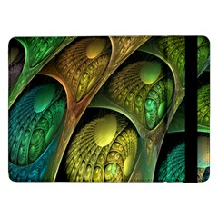Psytrance Abstract Colored Pattern Feather Samsung Galaxy Tab Pro 12 2  Flip Case