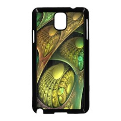 Psytrance Abstract Colored Pattern Feather Samsung Galaxy Note 3 Neo Hardshell Case (black)