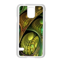 Psytrance Abstract Colored Pattern Feather Samsung Galaxy S5 Case (white)