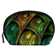 Psytrance Abstract Colored Pattern Feather Accessory Pouches (large)