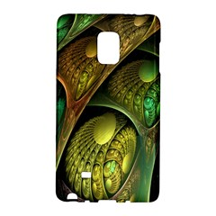 Psytrance Abstract Colored Pattern Feather Galaxy Note Edge