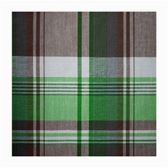Plaid Fabric Texture Brown And Green Medium Glasses Cloth