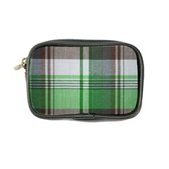 Plaid Fabric Texture Brown And Green Coin Purse