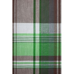 Plaid Fabric Texture Brown And Green 5 5  X 8 5  Notebooks