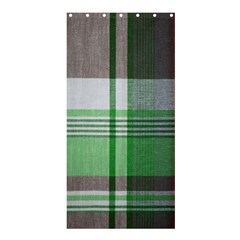 Plaid Fabric Texture Brown And Green Shower Curtain 36  X 72  (stall)