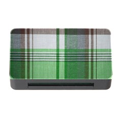 Plaid Fabric Texture Brown And Green Memory Card Reader With Cf