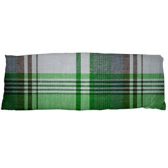 Plaid Fabric Texture Brown And Green Body Pillow Case (dakimakura)