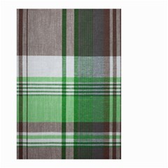 Plaid Fabric Texture Brown And Green Small Garden Flag (two Sides)