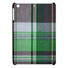 Plaid Fabric Texture Brown And Green Apple Ipad Mini Hardshell Case