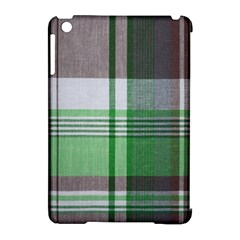 Plaid Fabric Texture Brown And Green Apple Ipad Mini Hardshell Case (compatible With Smart Cover)