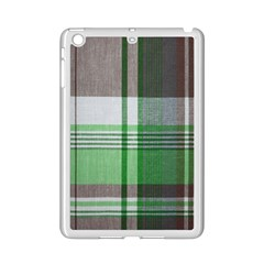 Plaid Fabric Texture Brown And Green Ipad Mini 2 Enamel Coated Cases