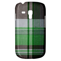 Plaid Fabric Texture Brown And Green Galaxy S3 Mini