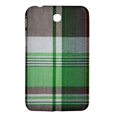 Plaid Fabric Texture Brown And Green Samsung Galaxy Tab 3 (7 ) P3200 Hardshell Case