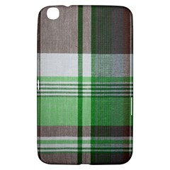 Plaid Fabric Texture Brown And Green Samsung Galaxy Tab 3 (8 ) T3100 Hardshell Case