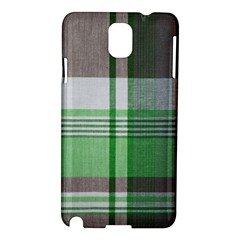 Plaid Fabric Texture Brown And Green Samsung Galaxy Note 3 N9005 Hardshell Case