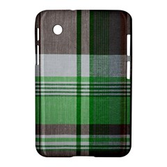 Plaid Fabric Texture Brown And Green Samsung Galaxy Tab 2 (7 ) P3100 Hardshell Case