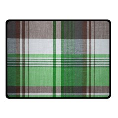 Plaid Fabric Texture Brown And Green Double Sided Fleece Blanket (small)