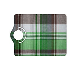 Plaid Fabric Texture Brown And Green Kindle Fire Hd (2013) Flip 360 Case