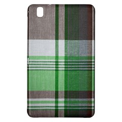Plaid Fabric Texture Brown And Green Samsung Galaxy Tab Pro 8 4 Hardshell Case