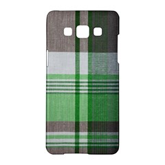 Plaid Fabric Texture Brown And Green Samsung Galaxy A5 Hardshell Case