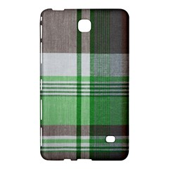 Plaid Fabric Texture Brown And Green Samsung Galaxy Tab 4 (8 ) Hardshell Case
