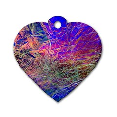 Poetic Cosmos Of The Breath Dog Tag Heart (two Sides)