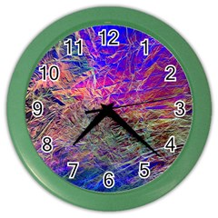 Poetic Cosmos Of The Breath Color Wall Clocks