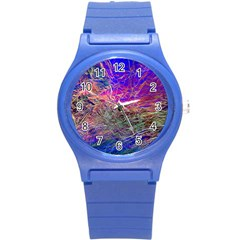 Poetic Cosmos Of The Breath Round Plastic Sport Watch (s)