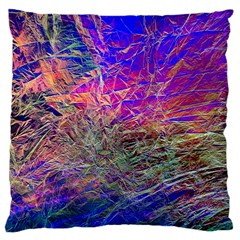 Poetic Cosmos Of The Breath Large Cushion Case (one Side)