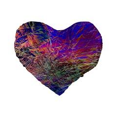 Poetic Cosmos Of The Breath Standard 16  Premium Heart Shape Cushions