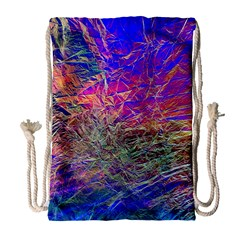 Poetic Cosmos Of The Breath Drawstring Bag (large)