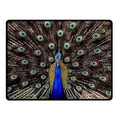 Peacock Double Sided Fleece Blanket (small)