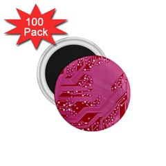 Pink Circuit Pattern 1 75  Magnets (100 Pack)