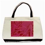 Pink Circuit Pattern Basic Tote Bag Front