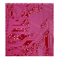 Pink Circuit Pattern Shower Curtain 66  X 72  (large)