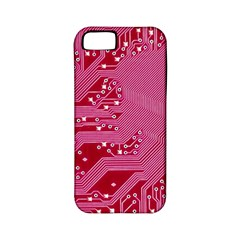 Pink Circuit Pattern Apple Iphone 5 Classic Hardshell Case (pc+silicone)