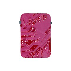 Pink Circuit Pattern Apple Ipad Mini Protective Soft Cases
