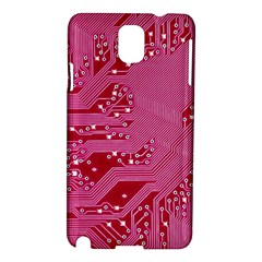 Pink Circuit Pattern Samsung Galaxy Note 3 N9005 Hardshell Case