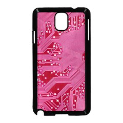 Pink Circuit Pattern Samsung Galaxy Note 3 Neo Hardshell Case (black)