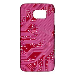 Pink Circuit Pattern Galaxy S6