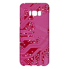 Pink Circuit Pattern Samsung Galaxy S8 Plus Hardshell Case