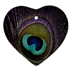 Peacock Feather Ornament (heart)