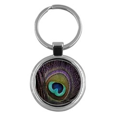 Peacock Feather Key Chains (round)