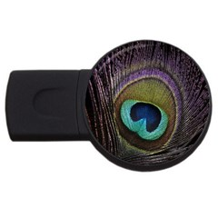 Peacock Feather Usb Flash Drive Round (2 Gb)