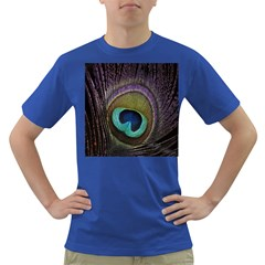 Peacock Feather Dark T Shirt