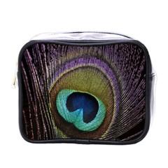 Peacock Feather Mini Toiletries Bags